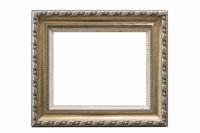 retro elegant picture frame isolated