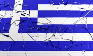 Broken Greek flag