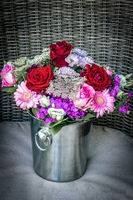 Beautiful red and pink flower bouquet