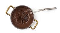 ladle with liquid chocolate