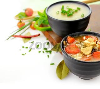 healthy soup bowls