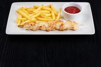 Grilled chicken shashlik meat