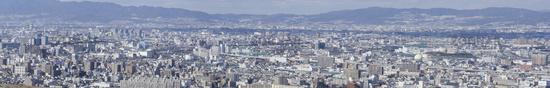 Panorama view of Osaka bay