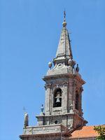 Historic church tower in Porto - Portugal