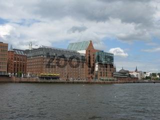 Speichergebäuden am Fischmarkt in Hamburg Altona
