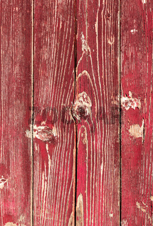 Wooden planks with peeling paint