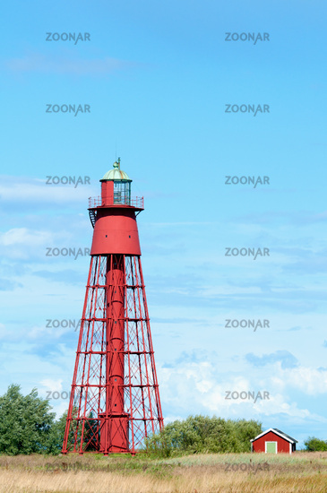 Lighthouse at Kapelludden, island Öland, Sweden
