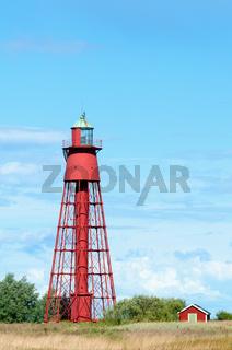 Leuchtturm bei Kapelludden auf Öland, Schweden