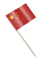 Chinese flag toothpick