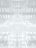 Grey and white technology background - 3d illustration