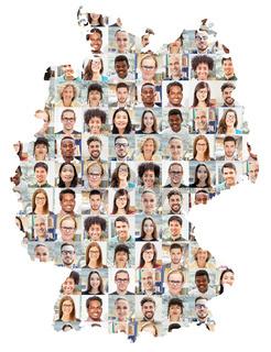 Deutschland Business Team Portrait Collage