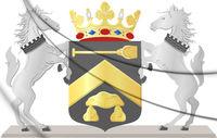 3D Borger-Odoorn coat of arms (Drenthe), Netherlands. 3D Illustration.