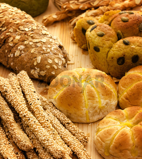 Variety of Breads