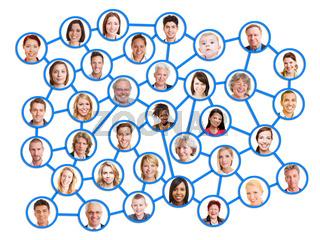 Personen im sozialen Netzwerk