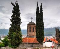 Exterior view to Presveta Bogorodica Kamensko Church, Ohrid, North Macedonia