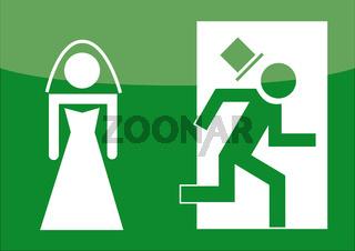Hochzeit Notausgang