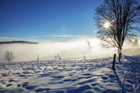 Winter day at the Schauinsland in the Schwarzwald