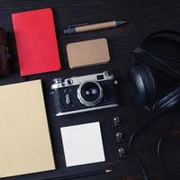 Retro camera, travel accessories