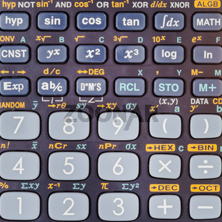 scientific calculator with many mathematical functions