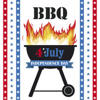 4 July Barbecue Star Stripes
