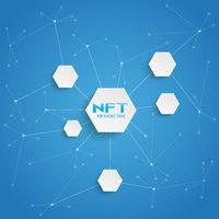 NFT Hexagons Blue Big Networks