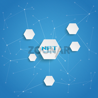 NFT Hexagons Blue Big Networks