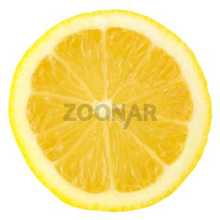 Isolated Slice Of Lemon