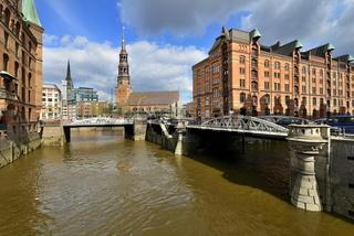 Speicherstadt Hamburg und Katharinenkirche