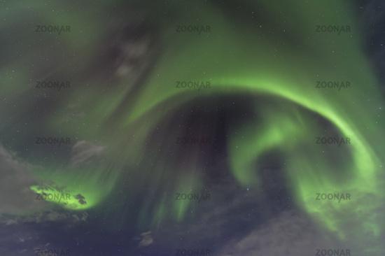 Northern lights corona (Aurora borealis), Sweden