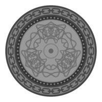 Celtic Pattern Isolated on White Background. Scandinavian Design.