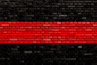 black red colored brick wall background