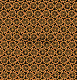 wallpapers with round abstract golden patterns