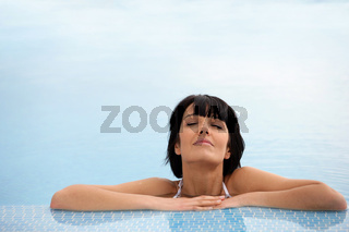 Woman in a swimming pool