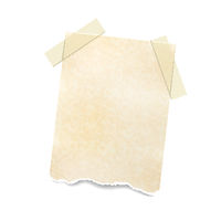 Notes paper sheet attached with adhesive tape