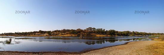 landscape at Makgadikgadi Pans National Park