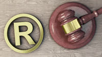 Trademark symbol and judges gavel