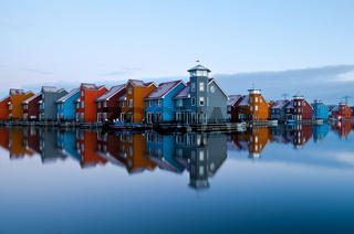 Reitdiep jachthaven before sunrise