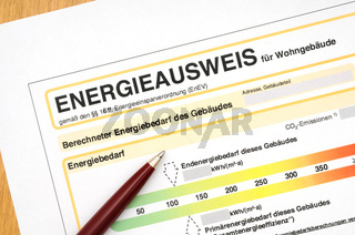 Energieausweis / Energy performance certificate