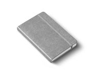 Greyclosed notebook isolated on white