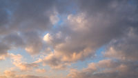 Sky with red-colored clouds