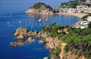 Blick auf den Urlaubsort Tossa de Mar