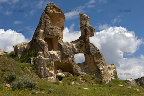 Heavily eroded tuff rocks, Cappadocia, Turkey