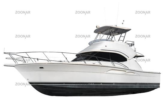Isolated Luxury Yacht