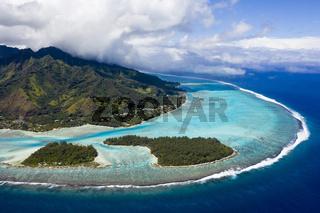 Tiahura Lagune, Franzoesisch Polynesien