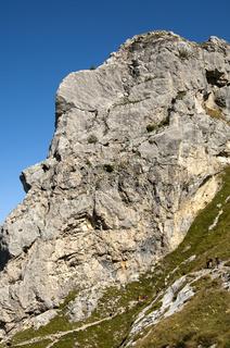 Felswand im Bergmassiv Bornes