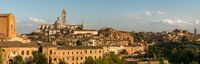 Panoramic cityscape of the historical town of Siena central Tuscany, Italy