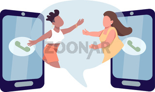 Stay in touch flat concept vector illustration