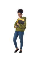 African american university student