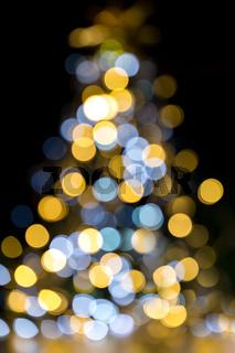 Christmas tree sparkling lights
