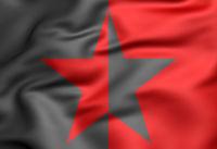 3D Flag of EZLN. 3D Illustration.